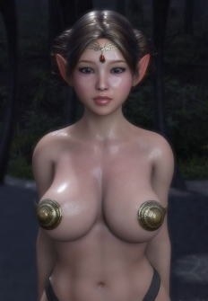 Ariel, the daughter of a noble elf, is a goblin chief sex slave